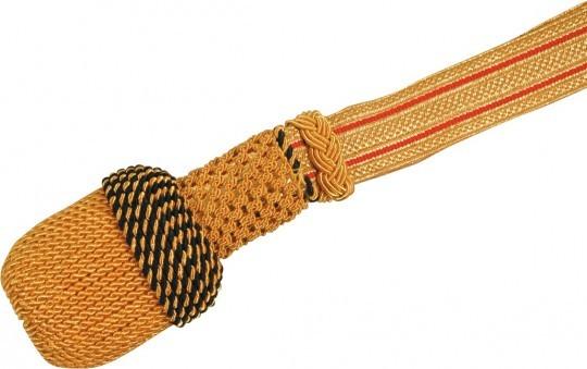 Portepee gold mit Streifen