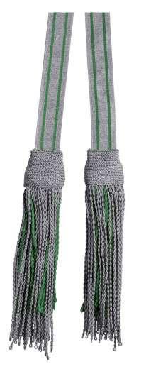 Schärpenquasten - Garnitur silber-grün
