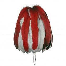 Federbusch rot-weiß mixed mit 90 oder 120 Bahnen