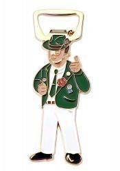 Flaschenöffner Schützenbruder grün/weiß