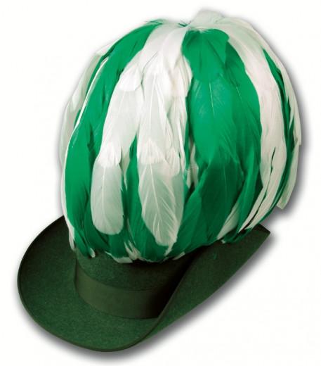 Federbusch 30cm hoch mixed (verschiedene Farben) grün-weiß | 90 Bahnen | zum Stecken