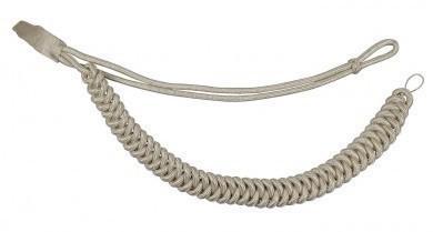 Fangschnur silber 1 Breitgeflecht und 1 Schlinge