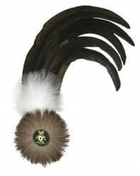 Hahnenschlappe - Schützenfeder mit 5 langen Federn + Flaum