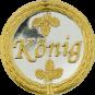 Auflage mit Königschriftzug silber/gold
