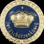 Auflage mit Krone + Jungschützenkönigschriftzug blau