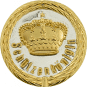 Auflage mit Krone + Schützenköniginschriftzug silber/gold