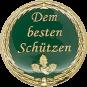Auflage mit Schriftzug Dem besten Schützen grün