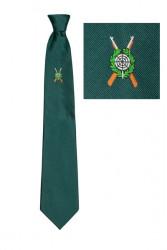 Schützenkrawatte mit gewebtem Emblem