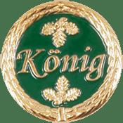"""Anstecknadel """"König"""" grün"""