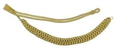 Fangschnur gold 1 Breitgeflecht und 1 Schlinge
