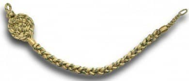 Schützenschnur, Gold mit Grünfaden