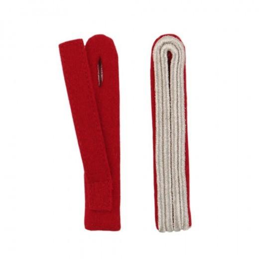 2-streifige Schulterstücke in silber