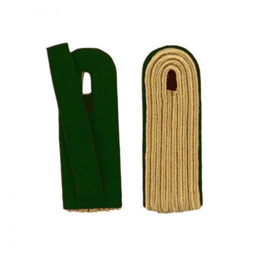 5-streifige Schulterstücke in gold