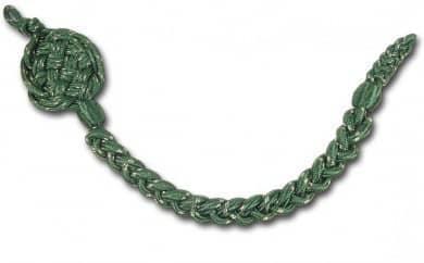 Schützenschnur, Grün mit Silberfaden