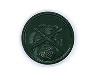 Schützenknopf grün 22mm mit Öse