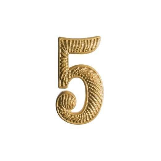 """Zahl """" 5 """" für Schulterklappe"""