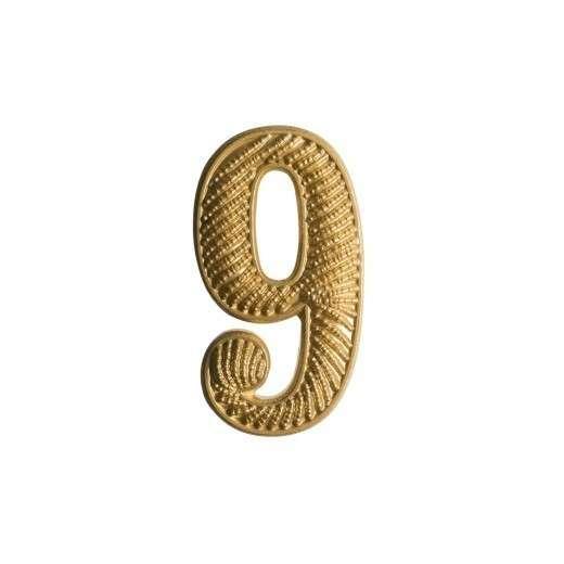 """Zahl """" 9 """" für Schulterklappe"""