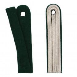 3-streifige Schulterstücke in silber
