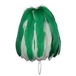 Federbusch grün-weiß mixed mit 90 oder 120 Bahnen